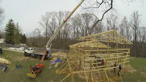 Truss Spacing Pole Barn Pole Barn Truss Setting Post Frame Building Ep 6 Youtube