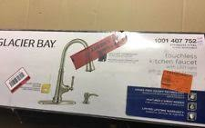 glacier bay touchless led single glacier bay 1001407752 touchless kitchen faucet led light steel