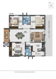 3 bhk apartment floor plan aparna cyberzon apartments for sale in nallagandla