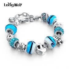 pandora style charm bracelet images Silver charm bracelets for women with crystal pandora style jpg