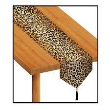 beistle 57848 printed leopard print table runner 11