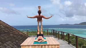 acroyoga on necker island with ashley judd and tari mannello youtube
