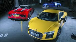 Audi R8 Hybrid - audi r8 triple test v10 plus vs v10 vs spyder top gear