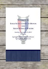 Eagle Scout Invitation Cards Product Categories Eagle Scout Court Of Honor Programs