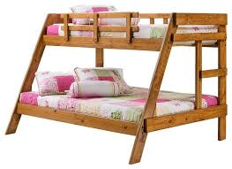 stylish full twin bunk bed with donco kids washington twin over