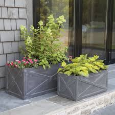 Garden Wall Troughs by Trough Planters Set Of Two Fibreclay