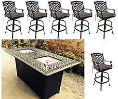 Outdoor Bar Patio Furniture Propane Pit Outdoor Bar Height Dining 7