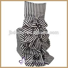 Black And White Chair Covers C001c Custom Made Black And White Ruffled Wedding Chair Cover