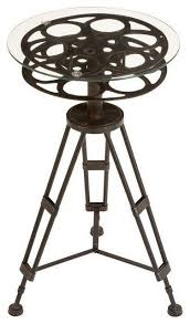 Industrial Accent Table Metal And Glass Accent Table Industrial Side Tables And End