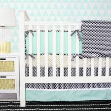 Black And White Crib Bedding Set Interior Black And Blue Crib Bedding On White Wooden Crib