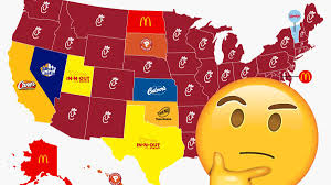 this map of america s most popular fast food chains makes no