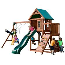Backyard Swing Sets For Adults by Swing N Slide Playsets Knightsbridge Wood Complete Playset Pb 9241