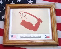 Texas Flag Chile Flag Texas Revolution Flag Goliad Flag Texas Bloody Arm Flag
