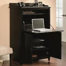 secretary desk computer armoire computer armoire desk cabinet home office hutch storage file drawer