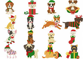 christmas dog breed pack 16 embroidery designs 2 99 woof