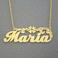 gold name chain name necklace personalized gold jewelry