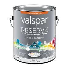 shop valspar reserve semi gloss latex exterior paint actual net