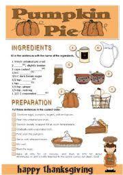 worksheet thanksgiving pumpkin pie