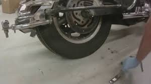 harley davidson ultra classic rear wheel removal youtube