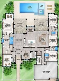 One Floor House Plan 65614bs One Story Four Bed Beauty Bedrooms Bath And Pantry