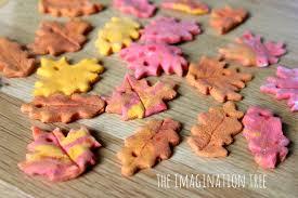 leaf shaped writing paper cinnamon salt dough leaf ornaments the imagination tree salt dough leaves