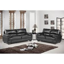 Chelsea Black Leather Sofa Collection - Chelsea leather sofa 2