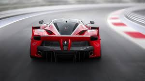 ferrari back view ferrari fxx k red supercar back view speed road wallpaper cars