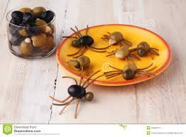 scary halloween spider appetizers stock photo image 44314379