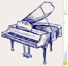 piano sketch stock vector image of grunge doodle ivory 26595818
