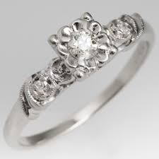1940s engagement rings engagement ring 14k white gold
