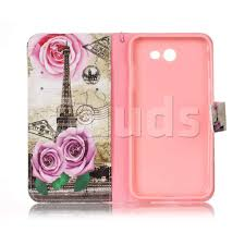 Eiffel Tower Accessories Rose Eiffel Tower Leather Wallet Phone Case For Samsung Galaxy J7