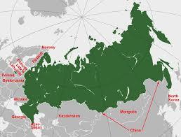 russia map border countries jan s krogh s geosite russia