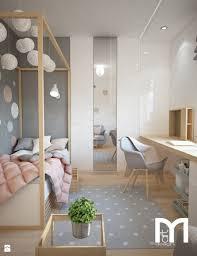 chambre z projekt domu jednorodzinnego z pastelowymi kolorami pokój dziecka