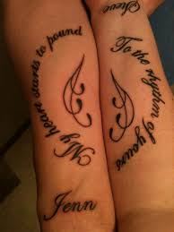 amazing music tattoos for couples creativefan