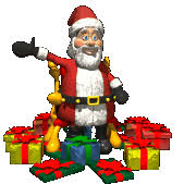 animated santa claus second marketplace santa claus with gifts waves