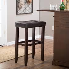 bar stool 32 inch seat height palazzo 32 inch extra tall saddle bar stool brown hayneedle