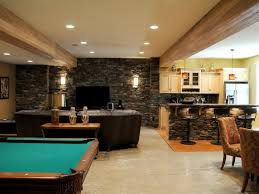 Basement House by Interior Modern Furniture For Cool Basement Ideas With Big Brown