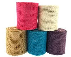 colored burlap ribbon trimweaver solid color burlap ribbon variety pack for
