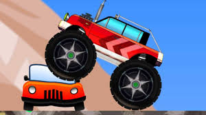 monster trucks kid video jail spiderman monster truck kids video spider car saves frozen
