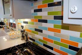 Kitchen Backsplash Colors Colored Subway Tile Roselawnlutheran