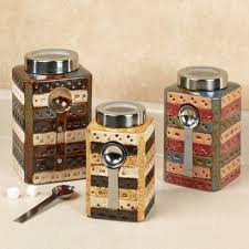 kitchen canisters ceramic sets kitchen matteo ceramic kitchen canister sets with spoon for kitchen