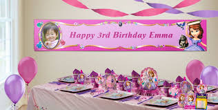 sofia the birthday custom sofia the birthday banners party city