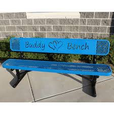 Commercial Outdoor Benches 6 U0027 Rivendale Buddy Bench With Hearts 0
