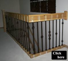 Replacing Banister Spindles Backyards Replacing Wooden Stair Balusters Spindles With Wrought