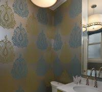 powder room wallpaper ideas bathroom transitional with corner