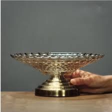 home decor ornaments e358 european style golden glass fruit bowl home decor ornaments