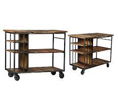 metal kitchen island tables burnley reclaimed wood and metal kitchen island trolley