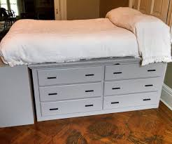 dresser platform bed from scratch dresser bed dresser and storage