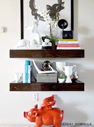 Free Woodworking Plans Floating Shelves by Diy Chunky Wooden Floating Shelves Round 2 Desert Domicile