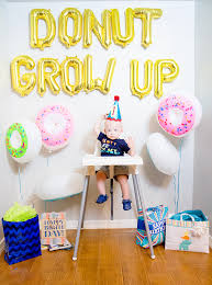 donut grow up 1st birthday party hard times swallows and birthdays